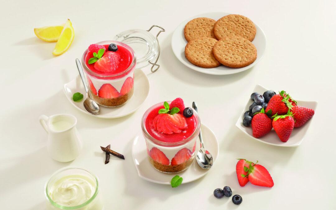Mini Strawberry Cheesecake in the jar